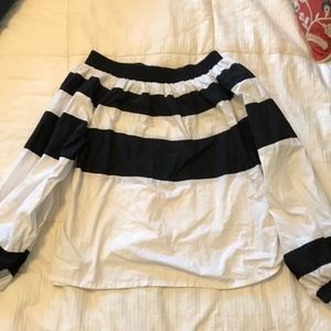 MLM black and white off shoulder shirt, small
